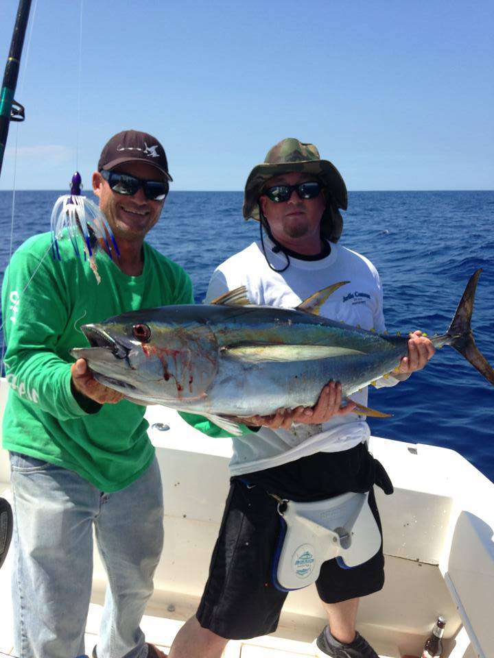 Another nice yellowfin tuna on a Stuart Fl. fishing charter. StuartFl.fishingcharters.